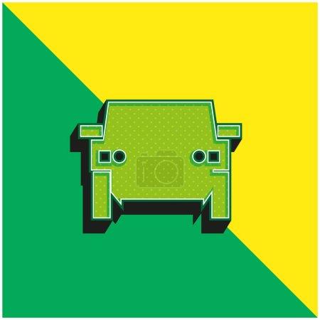 Illustration pour Véhicule tout terrain Logo vectoriel 3D moderne vert et jaune - image libre de droit