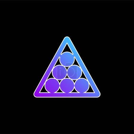 Billiards blue gradient vector icon
