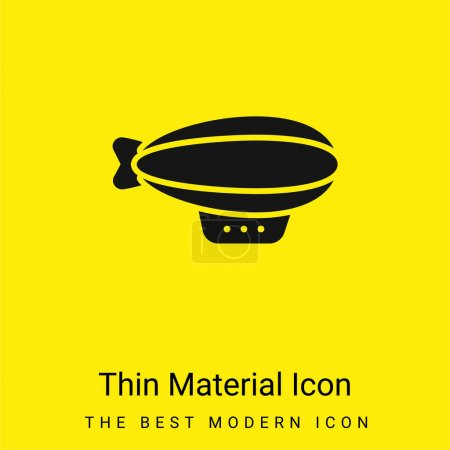 Illustration for Air Balloon minimal bright yellow material icon - Royalty Free Image