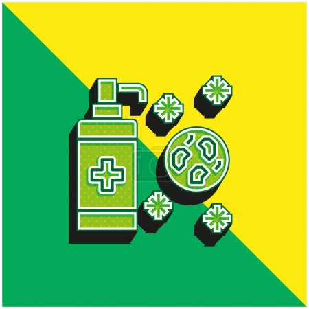 Illustration for Antiseptic Green and yellow modern 3d vector icon logo - Royalty Free Image