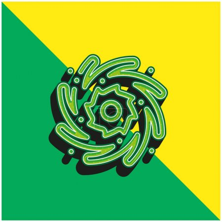 Photo for Black Hole Green and yellow modern 3d vector icon logo - Royalty Free Image