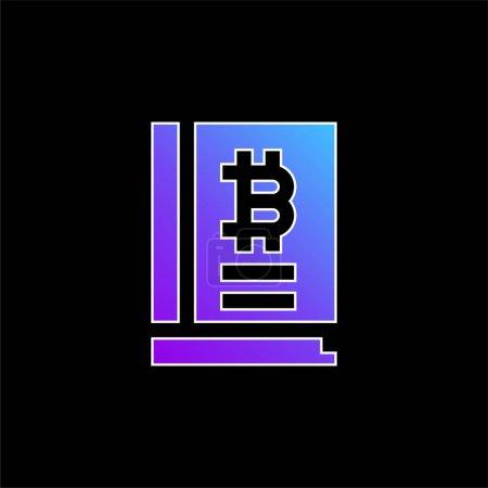 Illustration pour Icône vectorielle dégradé bleu Bitcoin - image libre de droit