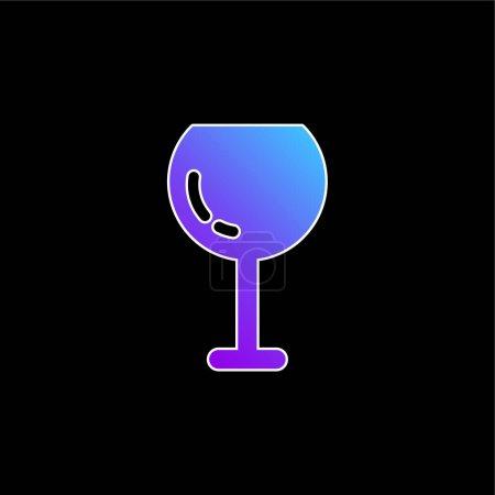 Illustration pour Grand verre à vin icône vectorielle dégradé bleu - image libre de droit
