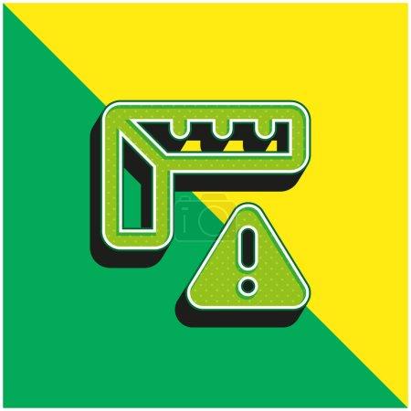 Photo pour Alerte Logo vectoriel 3d moderne vert et jaune - image libre de droit
