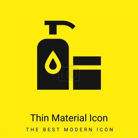 Illustration pour Bébé huile minimale jaune vif icône matérielle - image libre de droit