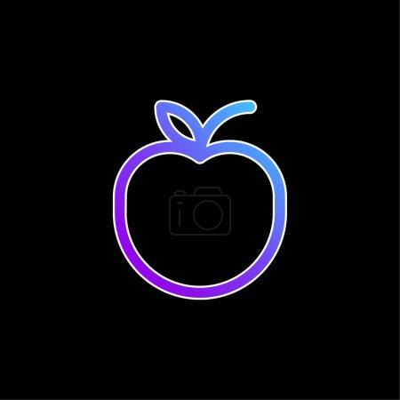 Apple blue gradient vector icon