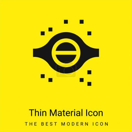 Photo for Blackhole minimal bright yellow material icon - Royalty Free Image