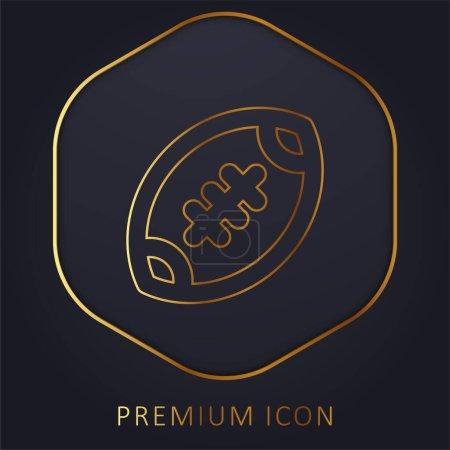 Photo pour American Football ligne d'or logo premium ou icône - image libre de droit