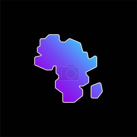 Illustration pour Icône vectorielle dégradé bleu Afrique - image libre de droit