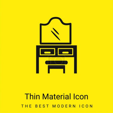 Bedroom Mirror On Drawers With A Seat minimal bright yellow material icon