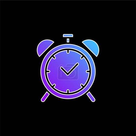 Illustration pour Icône vectorielle dégradé bleu alarme - image libre de droit
