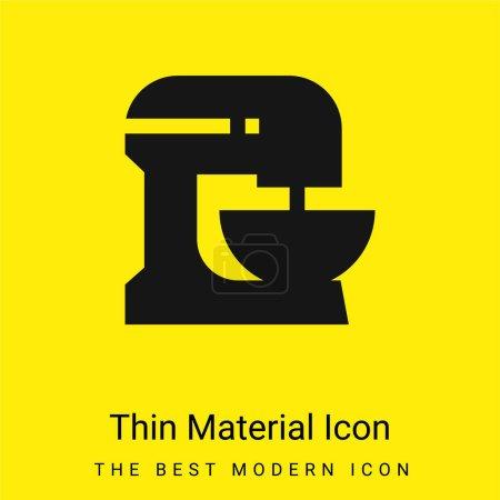 Illustration pour Batteur minimal jaune vif icône matérielle - image libre de droit