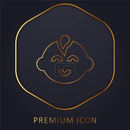 Bébé Garçon ligne d'or logo premium ou icône