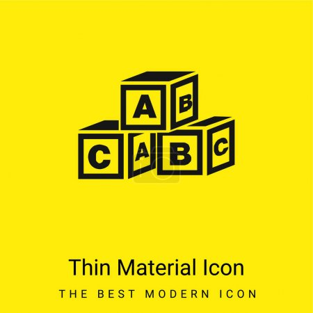 ABC Cubes minimal bright yellow material icon
