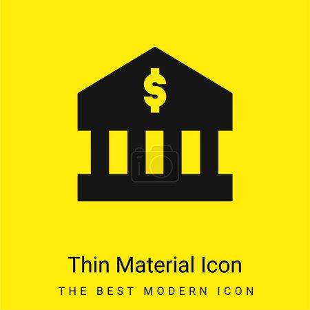 Photo pour Banque minimale icône matériau jaune vif - image libre de droit