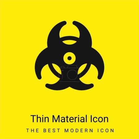Photo pour Biohazard minime icône de matériau jaune vif - image libre de droit