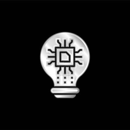 Künstliche Intelligenz versilbert Metallic-Symbol