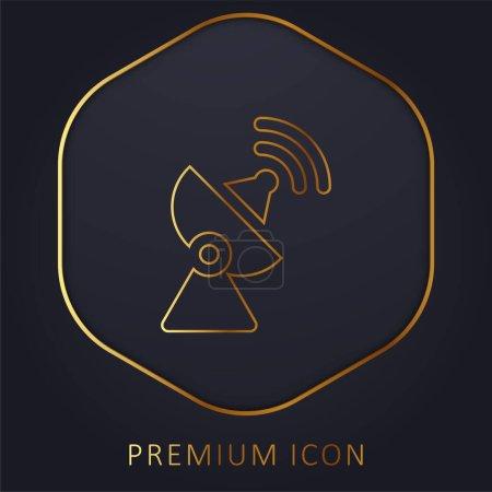 Illustration pour Antenne ligne d'or logo premium ou icône - image libre de droit