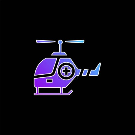 Illustration for Air Ambulance blue gradient vector icon - Royalty Free Image