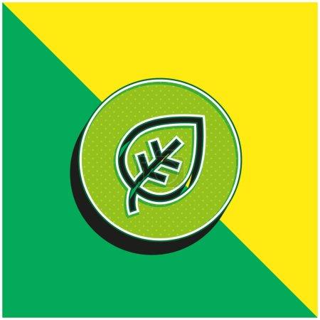 Illustration pour Biologique Vert et jaune moderne logo icône vectorielle 3d - image libre de droit