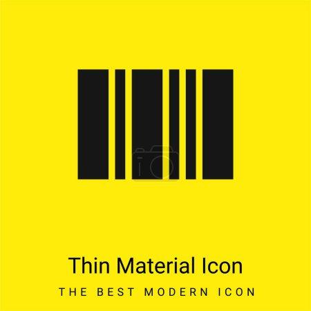 Bar Code minimal bright yellow material icon