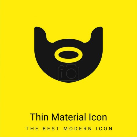 Illustration for Beard minimal bright yellow material icon - Royalty Free Image