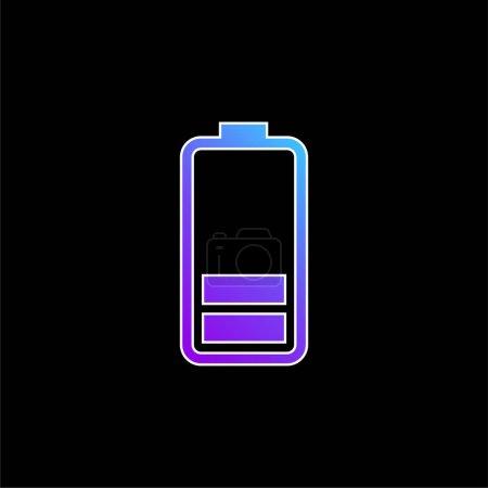 Battery Status blue gradient vector icon