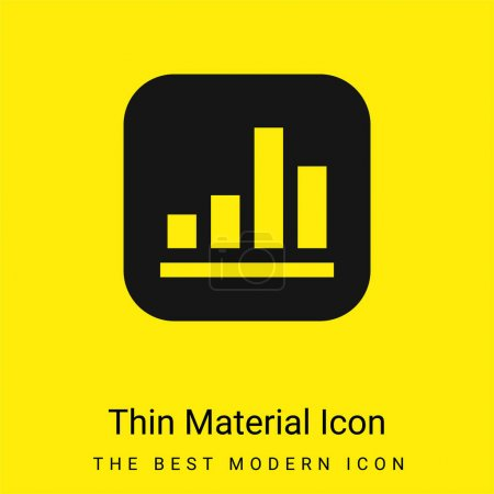 Illustration for Apple minimal bright yellow material icon - Royalty Free Image