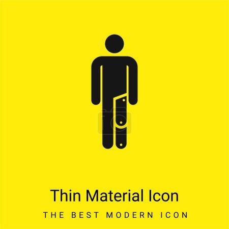 Icône matérielle jaune vif minimale amputée