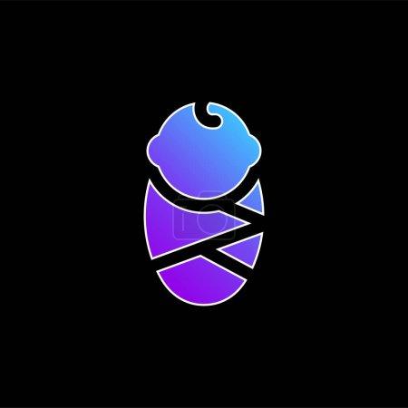 Photo pour Bébé bleu dégradé vecteur icône - image libre de droit
