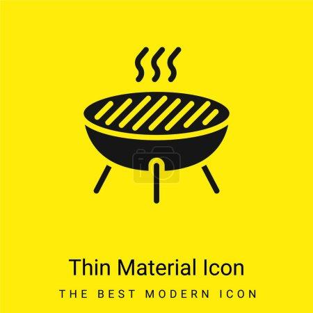 Photo pour Bbq minimal icône de matériau jaune vif - image libre de droit