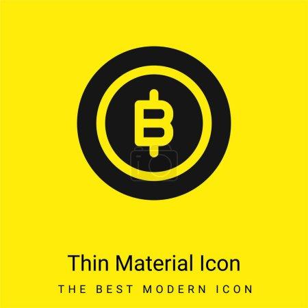 Bitcoin minimal bright yellow material icon