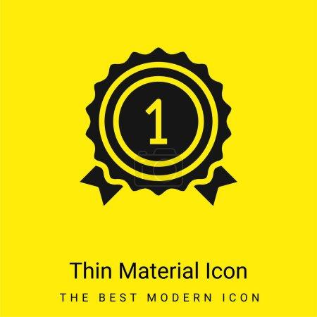 Auszeichnung minimales leuchtend gelbes Materialsymbol
