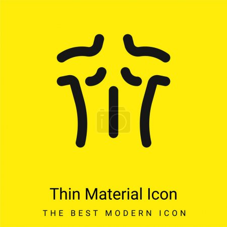 Illustration for Back minimal bright yellow material icon - Royalty Free Image