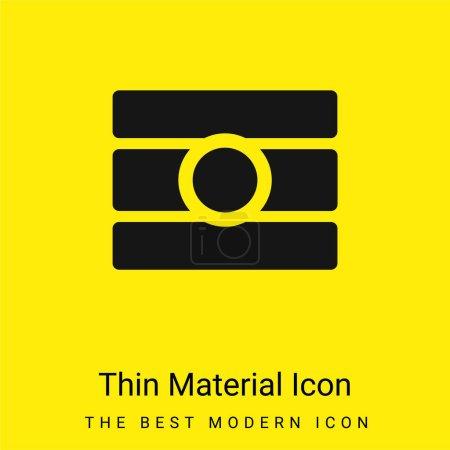 Photo for Bindi minimal bright yellow material icon - Royalty Free Image