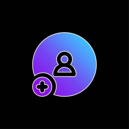 Illustration pour Ajouter l'icône vectorielle de dégradé bleu ami - image libre de droit