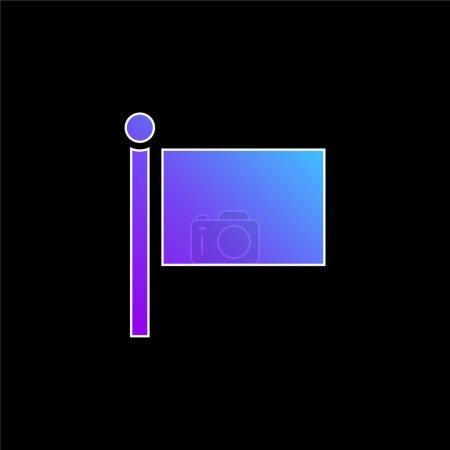 Black Flag blue gradient vector icon