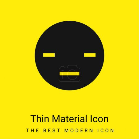 Illustration pour Icône minimale ennuyeuse matériau jaune vif - image libre de droit