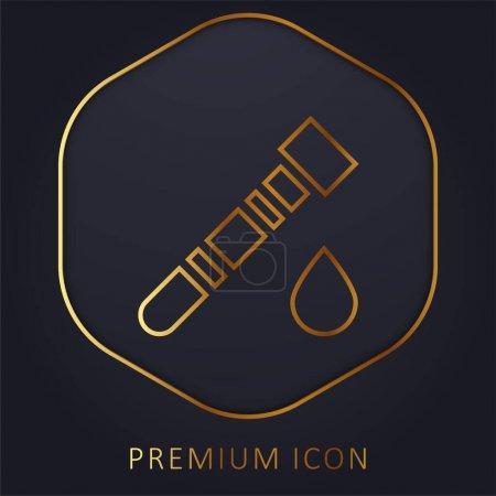 Illustration pour Test sanguin ligne d'or logo premium ou icône - image libre de droit