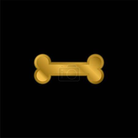 Illustration pour Icône métallique plaqué or osseux ou vecteur de logo - image libre de droit