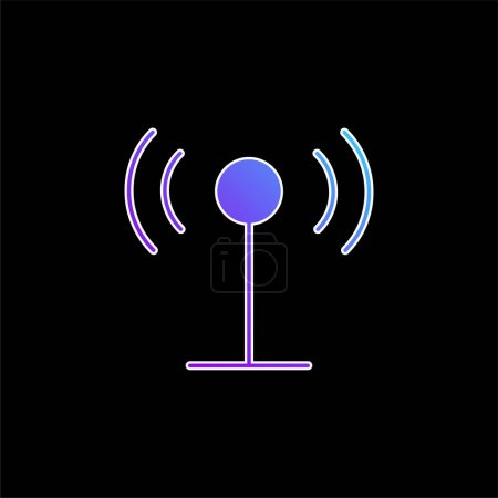 Illustration for Antenna blue gradient vector icon - Royalty Free Image