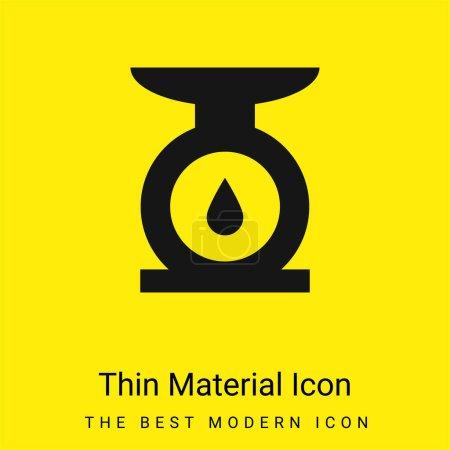 Illustration pour Balance minimale jaune vif icône matérielle - image libre de droit