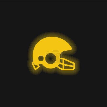 Illustration pour American Football jaune flamboyant icône néon - image libre de droit