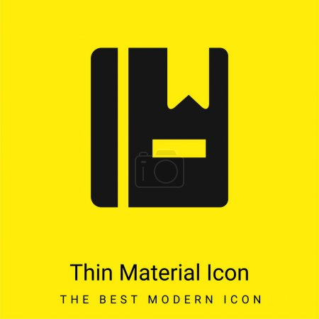 Book With Marker minimal bright yellow material icon