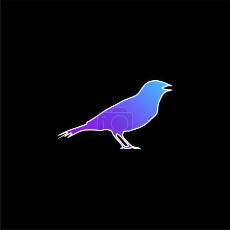 Photo for Anis Bird Shape blue gradient vector icon - Royalty Free Image