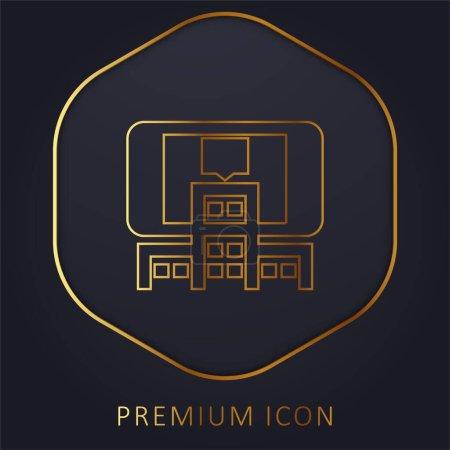 Logotipo o icono premium de la línea dorada Realidad Aumentada