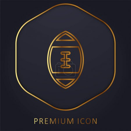 Illustration for American Football golden line premium logo or icon - Royalty Free Image