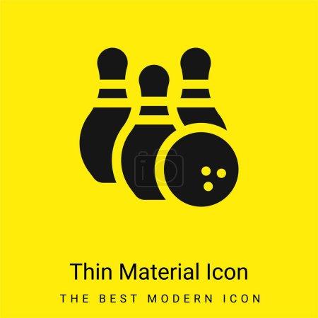 Photo pour Bowling minime icône matériau jaune vif - image libre de droit