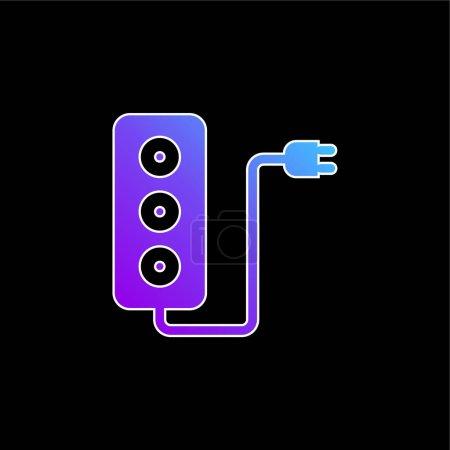 Illustration pour Adaptateur bleu dégradé vecteur icône - image libre de droit
