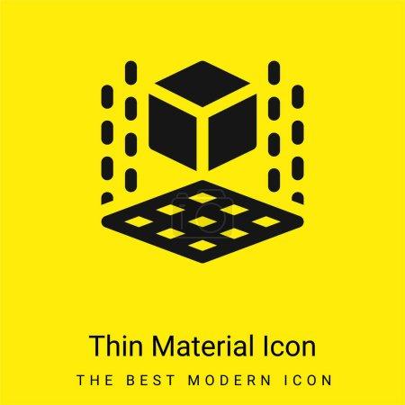 Photo pour Imprimante 3d minimaliste jaune vif icône matérielle - image libre de droit